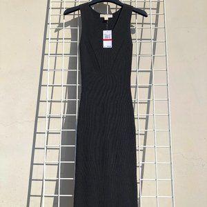 Michael Kors Black Knit Midi Dress